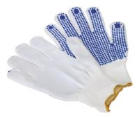 PVC Anti-Slip Nylon Knitted Gloves - Pair. SSP51